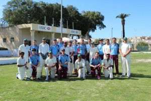 Marsa CC and Charterhouse Friars before Sunday's Final at the Marsa Sports Club.